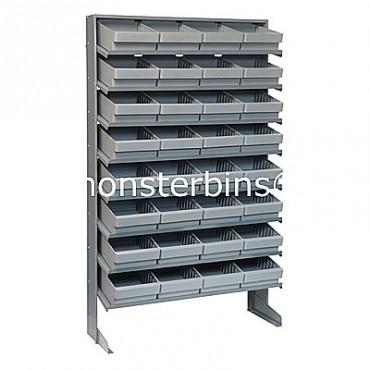 Single Sided Sloped Pick Rack - 8 Shelves - 32 MED701
