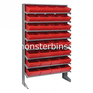 Single Sided Sloped Pick Rack - 8 Shelves - 32 QED701