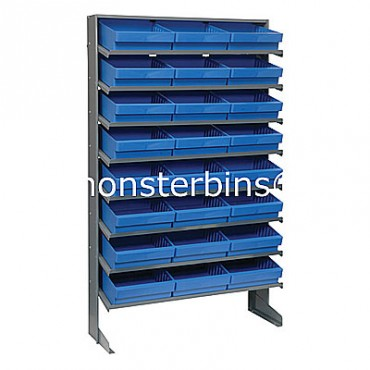 Single Sided Sloped Pick Rack - 8 Shelves - 24 MED801