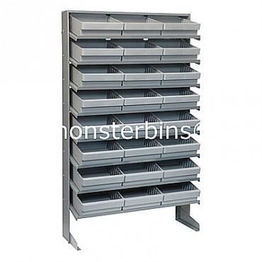 Single Sided Sloped Pick Rack - 8 Shelves - 24 QED801
