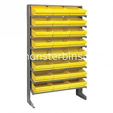 Single Sided Sloped Pick Rack - 8 Shelves - 24 QED801