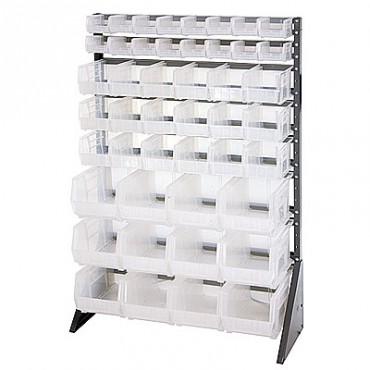 16 Rail Unit - Single Sided with 16 QUS220, 18 QUS230, 12 QUS240 Clear Bins
