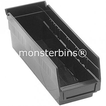 Recycled Plastic Shelf Bin 12x4x4