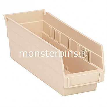 Plastic Shelf Bin 12x4x4
