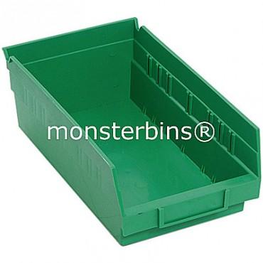 Plastic Shelf Bin 12x6x4