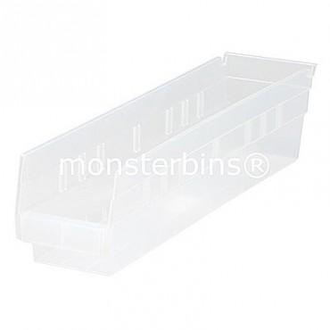 Clear Plastic Shelf Bin 18x4x4