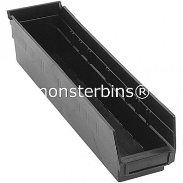 Recycled Plastic Shelf Bin 18x4x4