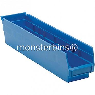 Plastic Shelf Bin 18x4x4