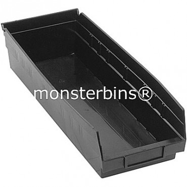 Recycled Plastic Shelf Bin 18x6x4