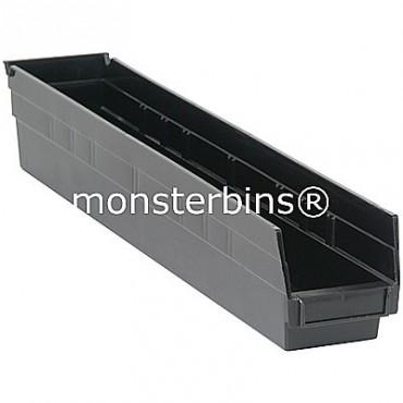Recycled Plastic Shelf Bin 24x4x4