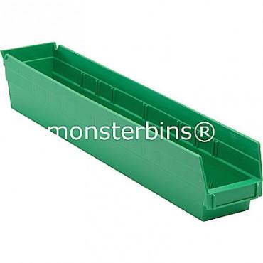 Plastic Shelf Bin 24x4x4