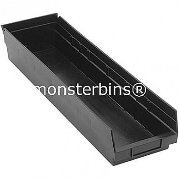Recycled Plastic Shelf Bin 24x6x4