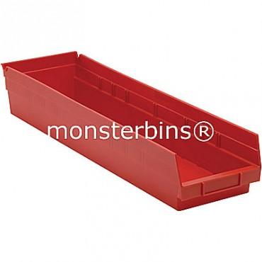 Plastic Shelf Bin 24x6x4
