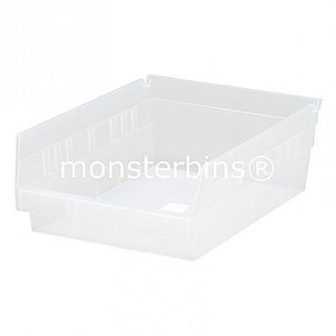 Clear Plastic Shelf Bin 12x8x4
