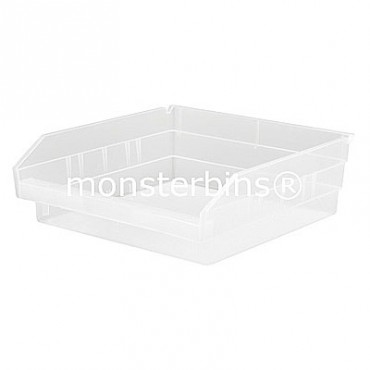 Clear Plastic Shelf Bin 12x11x4