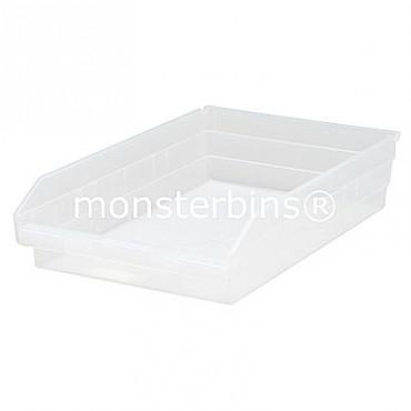 Clear Plastic Shelf Bin 18x11x4