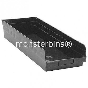 Recycled Plastic Shelf Bin 24x8x4