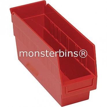 Plastic Shelf Bin 12x4x6