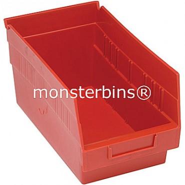 Plastic Shelf Bin 12x6x6