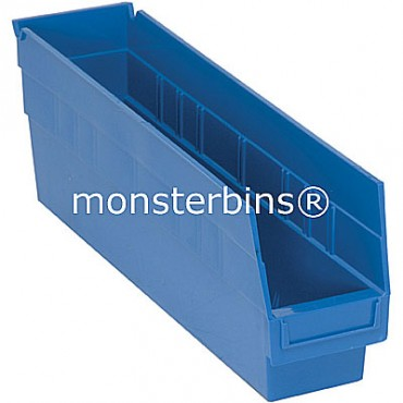 Plastic Shelf Bin 18x4x6