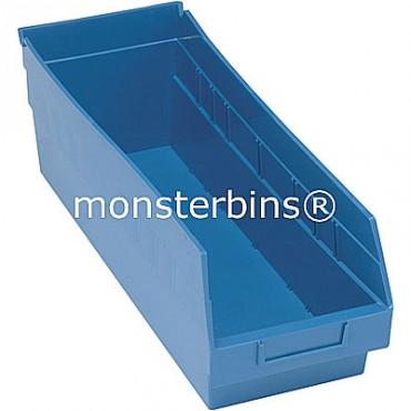 Plastic Shelf Bin 18x6x6