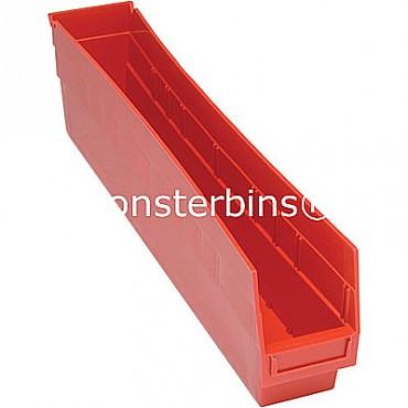 Plastic Shelf Bin 24x4x6