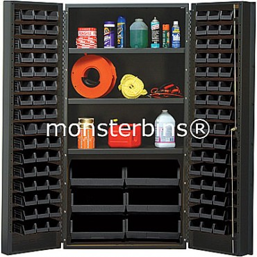 "36"" Cabinet with 3 Shelves and 102 ESD Bins"