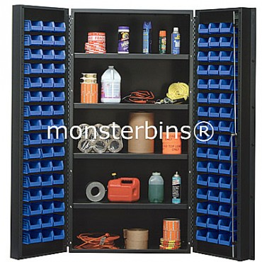 "36"" Cabinet with 4 Adjustable Shelves & 96 Stack Bins"