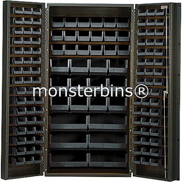 SSC-36 Cabinet with Black Plastic Bins
