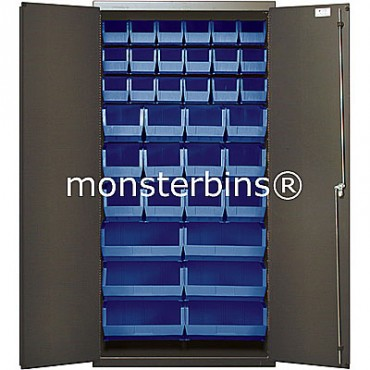 "36"" Cabinet with 36 Stack Bins"