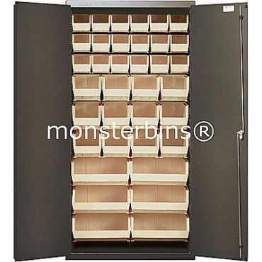 """36"""" Cabinet with 36 Stack Bins"""