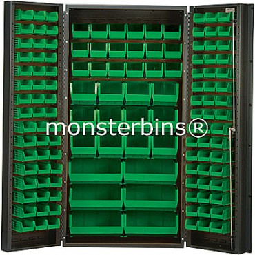 SSC-36 Cabinet with Green Plastic Bins