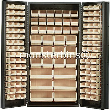 SSC-36 Cabinet with Ivory Plastic Bins