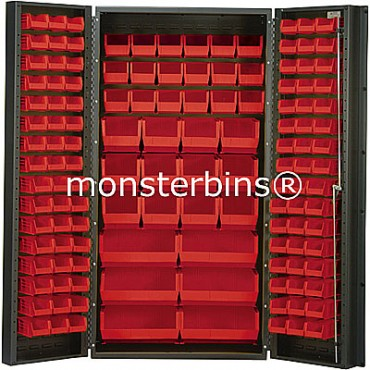 SSC-36 Cabinet with Red Plastic Bins