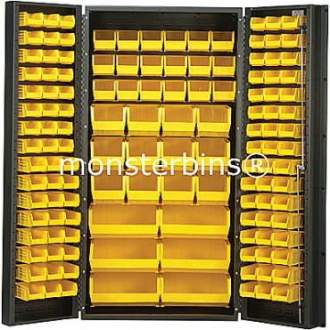 SSC-36 Cabinet with Yellpw Plastic Bins