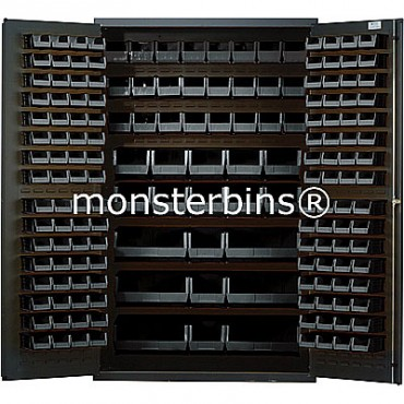 MSC-48 Cabinet with Black Plastic Bins