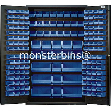 SSC-48 Cabinet with Blue Plastic Bins