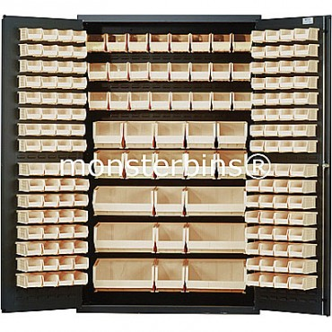 MSC-48 Cabinet with Ivory Plastic Bins
