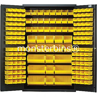 MSC-48 Cabinet with Yellpw Plastic Bins