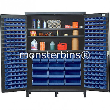 SSC-60 Cabinet with Shelves and Blue Plastic Bins