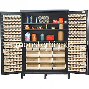 """60"""" Cabinet with 185 Stack Bins"""