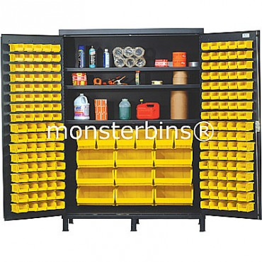 SSC-60 Cabinet with Shelves and Yellow Plastic Bins