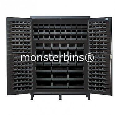 SSC-60 Cabinet with Black Plastic Bins