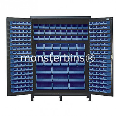 SSC-60 Cabinet with Blue Plastic Bins