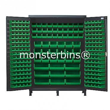 SSC-60 Cabinet with Green Plastic Bins