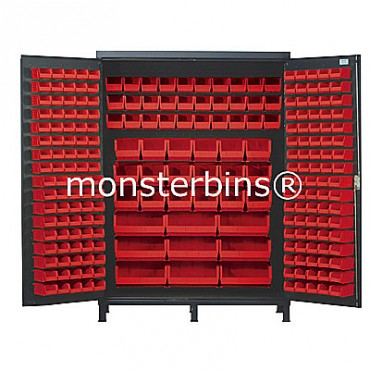 SSC-60 Cabinet with Red Plastic Bins
