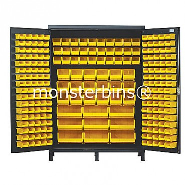 SSC-60 Cabinet with Yellpw Plastic Bins