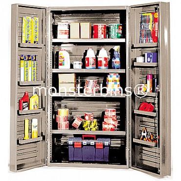 """Beige 36"""" Cabinet with 4 Adjustable Shelves & 12 Door Shelves"""