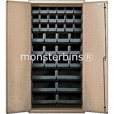 """Beige 36"""" Cabinet with 36 Stack Bins"""