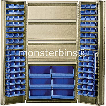 """Beige 36"""" Cabinet with 102 Stack Bins"""